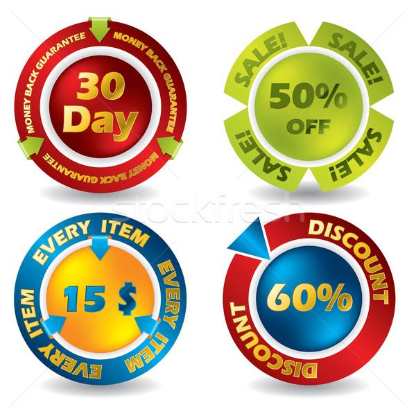 Guarantee and price labe set Stock photo © vipervxw