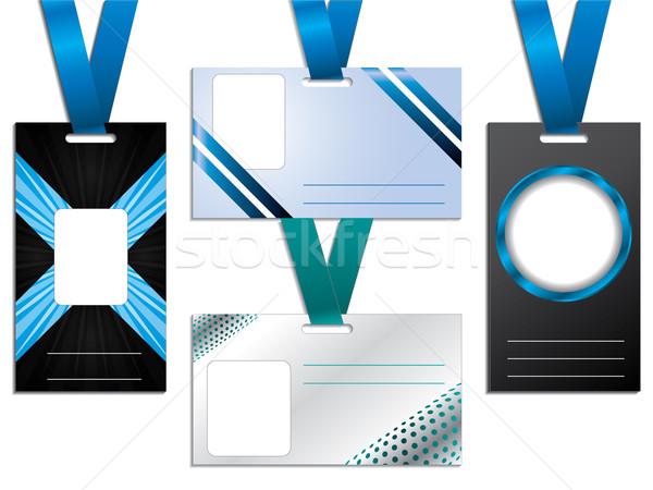 Targhetta disegni design set quattro ufficio Foto d'archivio © vipervxw