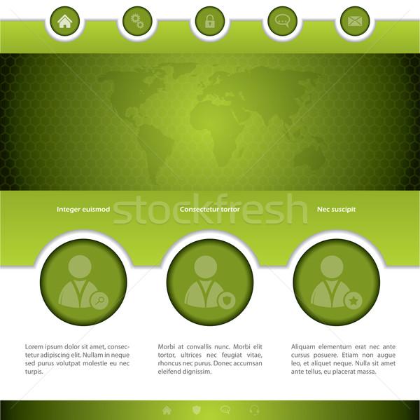 Sociale networking progettazione di siti web verde diverso opzioni Foto d'archivio © vipervxw