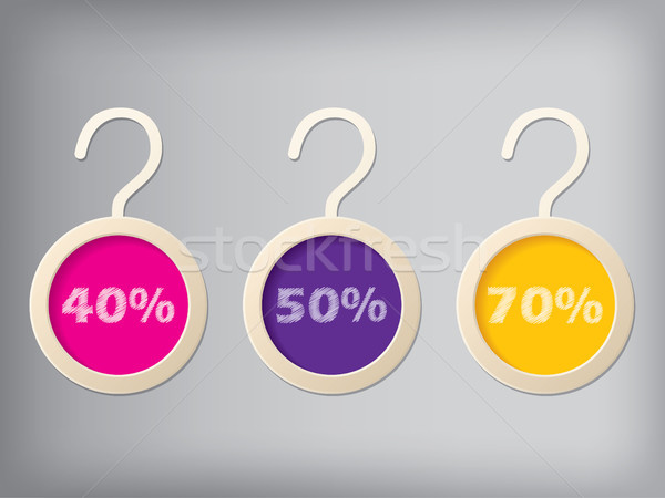 Cloth hanger style label set Stock photo © vipervxw