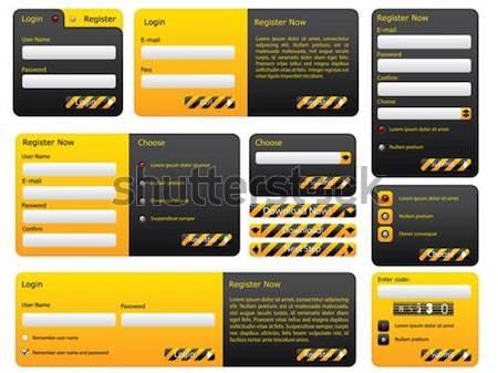 предупреждение опасность сайт форме набор интернет Сток-фото © vipervxw