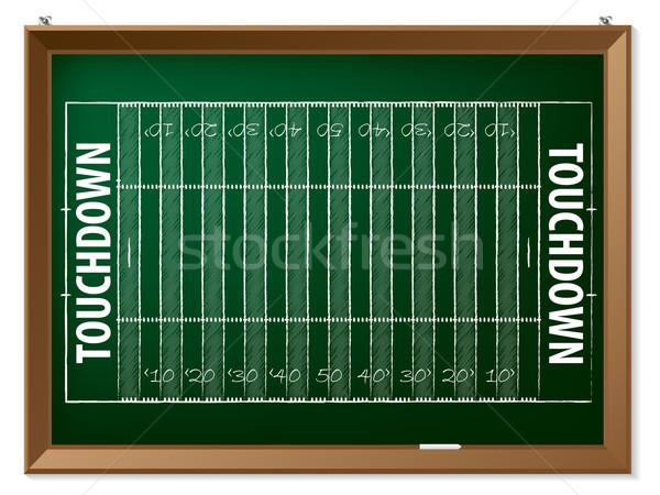 Amerikai futballpálya rajzolt tábla kéz sport Stock fotó © vipervxw