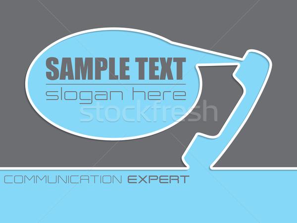 Communication company advertisement background design Stock photo © vipervxw