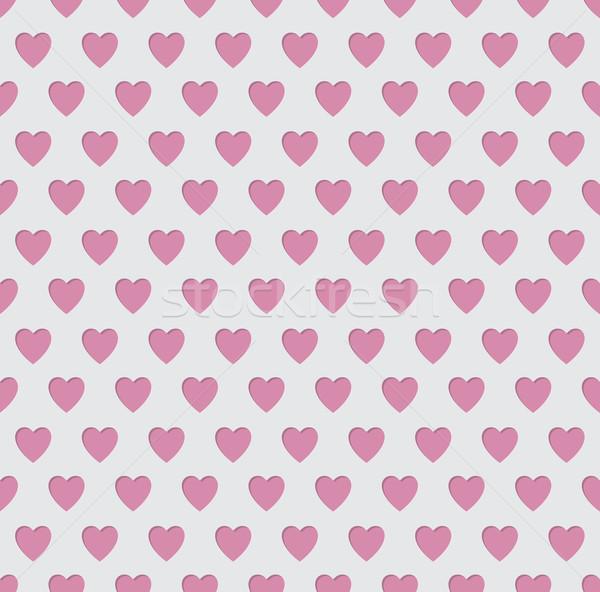 Tileable seamless pink heart pattern background Stock photo © vipervxw