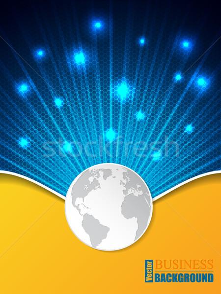 六角形 パターン ビジネス パンフレット 世界中 テンプレート ストックフォト © vipervxw