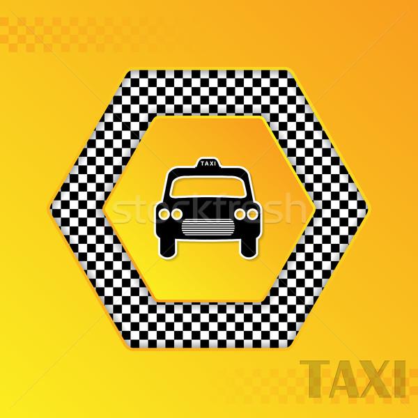 Kockás taxi taxi sziluett központ sablon Stock fotó © vipervxw