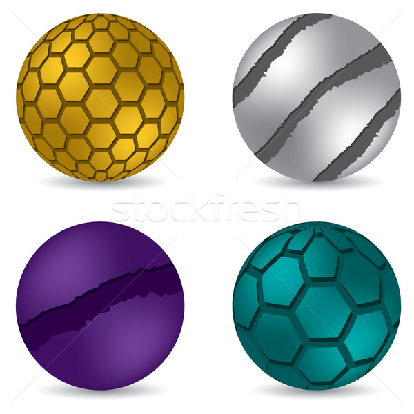 3d matte button set of four Stock photo © vipervxw
