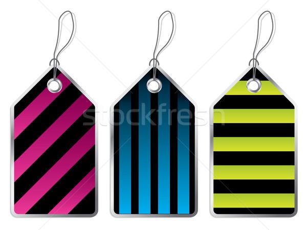 Striped color labels  Stock photo © vipervxw