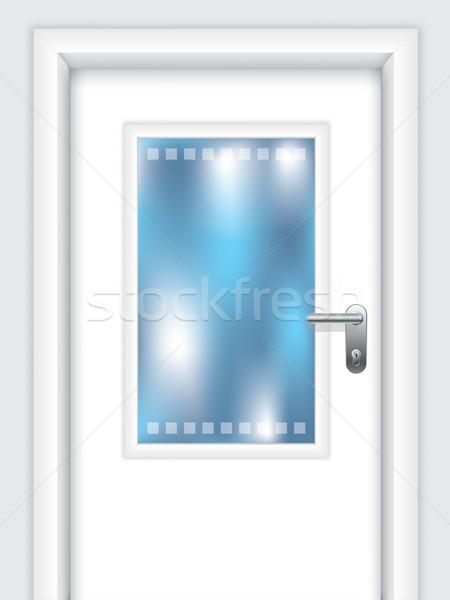 Door with dotted window Stock photo © vipervxw