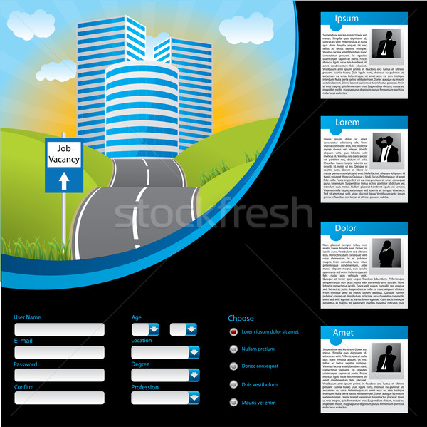Job searching website template design Stock photo © vipervxw