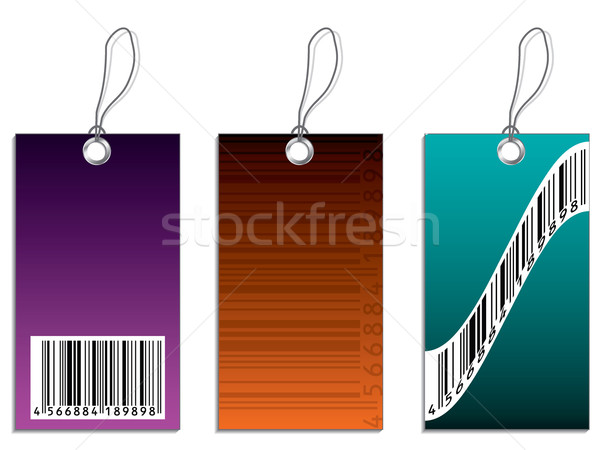 Labels with bar-code  Stock photo © vipervxw