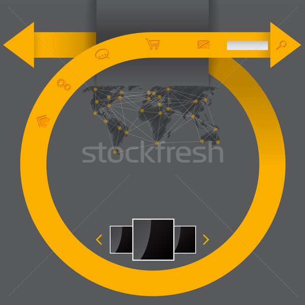 Curling arrow web template Stock photo © vipervxw