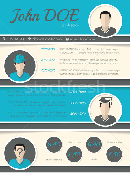 Modern resume curriculum vitae template with circle shapes Stock photo © vipervxw