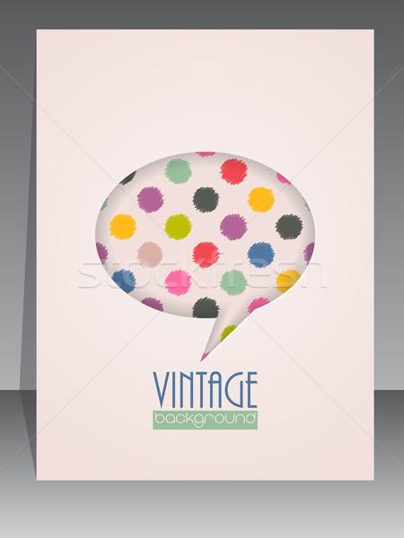 Cool Vintage альбом охватывать речи пузырь ретро Сток-фото © vipervxw