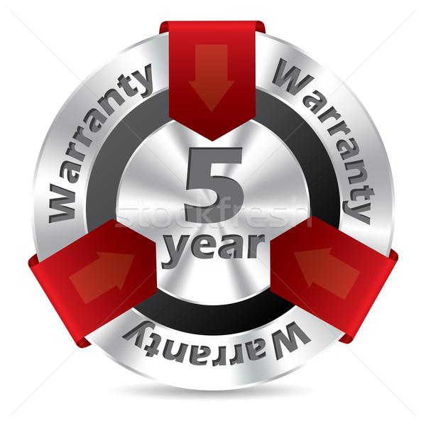 Stock photo: 5 year warranty badge design