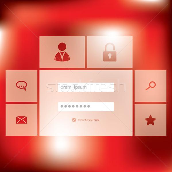 élégant nouvelle s'identifier écran design affaires Photo stock © vipervxw