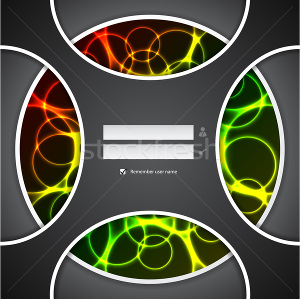 Abstract login screen design with plasma effect Stock photo © vipervxw