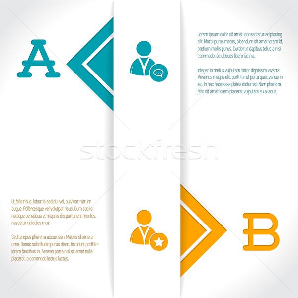 Infografika terv lehetőségek leírás kettő papír Stock fotó © vipervxw