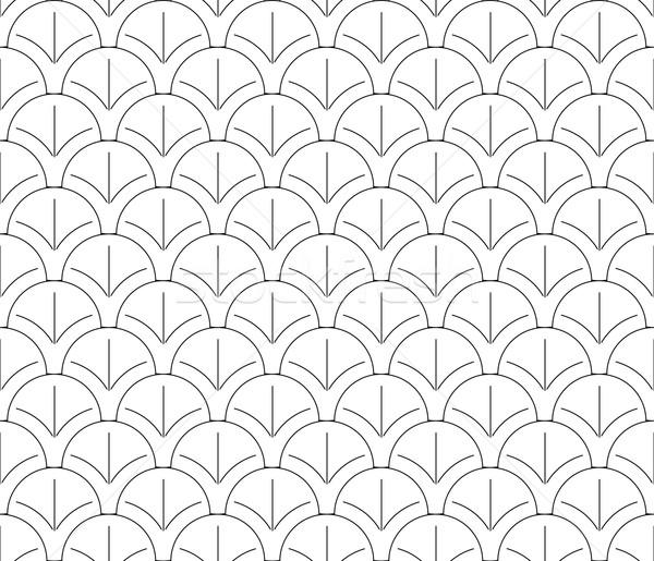 Senza soluzione di continuità bianco nero pattern wallpaper abstract design Foto d'archivio © vipervxw