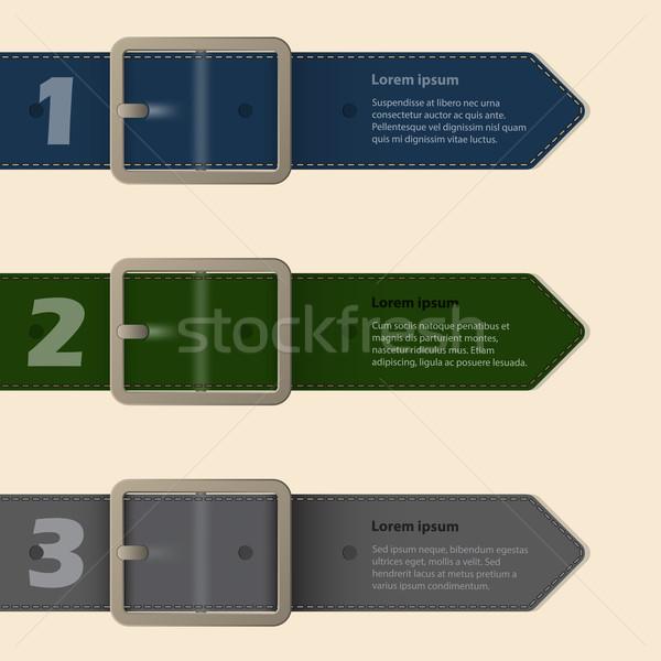 Cintura fibbia cancelleria design luce internet Foto d'archivio © vipervxw