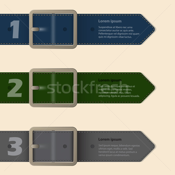 Belt buckle stationery design Stock photo © vipervxw