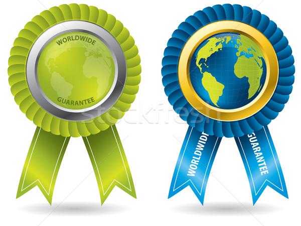 światowy gwarantować odznaki zestaw wiele produktów Zdjęcia stock © vipervxw