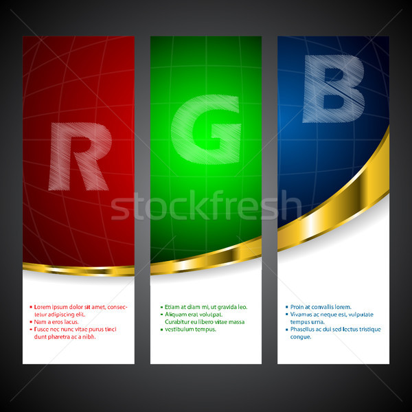 Rgb label set with scribble letters Stock photo © vipervxw