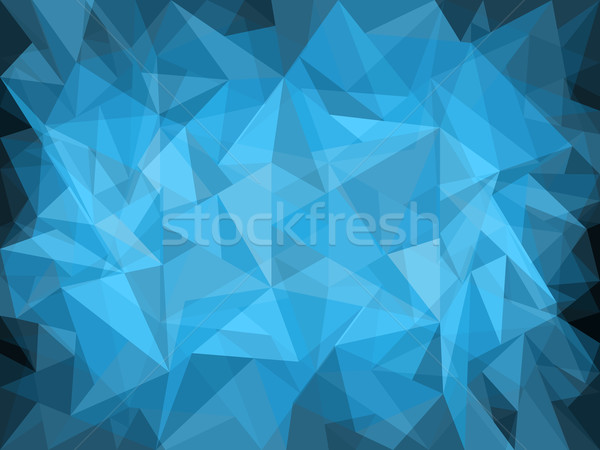 Abstract blu design luce buio arte Foto d'archivio © vipervxw