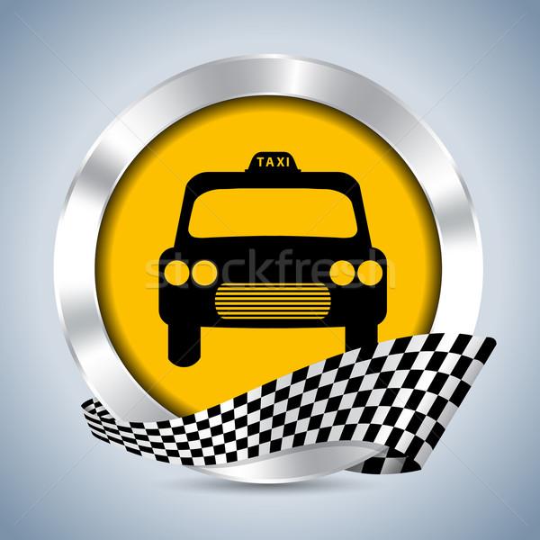 Metallic taxi badge design Stock photo © vipervxw