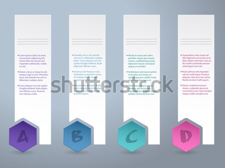 White label infograhic with small color hexagons Stock photo © vipervxw