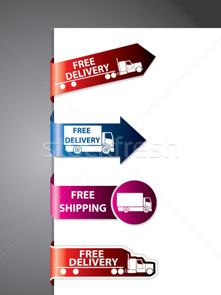 Free shipping label/stickers Stock photo © vipervxw