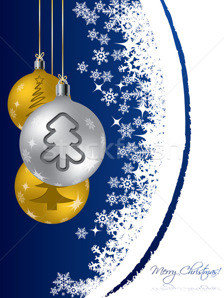 Christmas greeting card design with decorations Stock photo © vipervxw