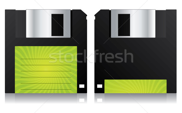 Floppy with green label  Stock photo © vipervxw