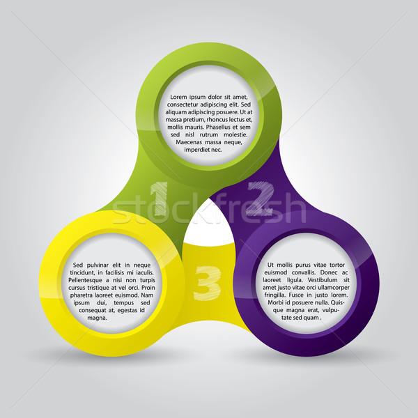 Circles with advertising texts  Stock photo © vipervxw