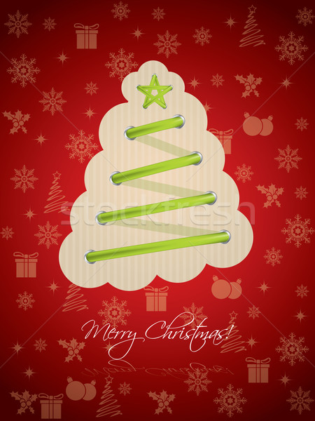 Cool christmas greeting with green laces Stock photo © vipervxw