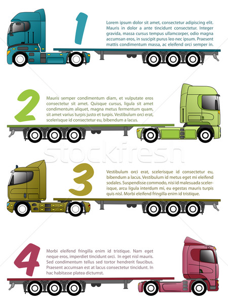 Truck infographics design with various choices Stock photo © vipervxw
