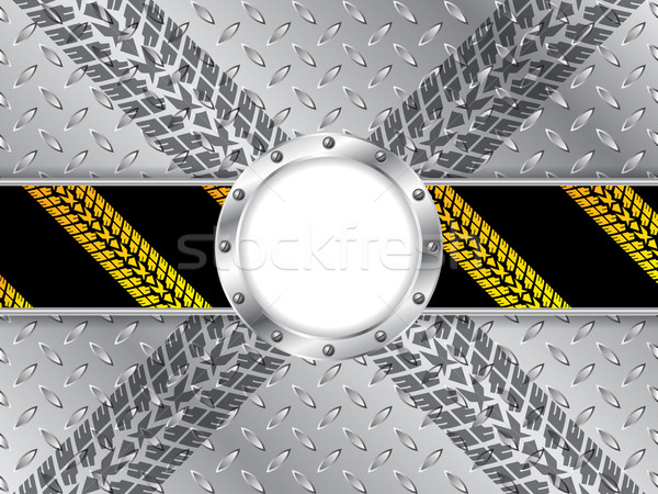 Industrial background with tire treads and white space Stock photo © vipervxw