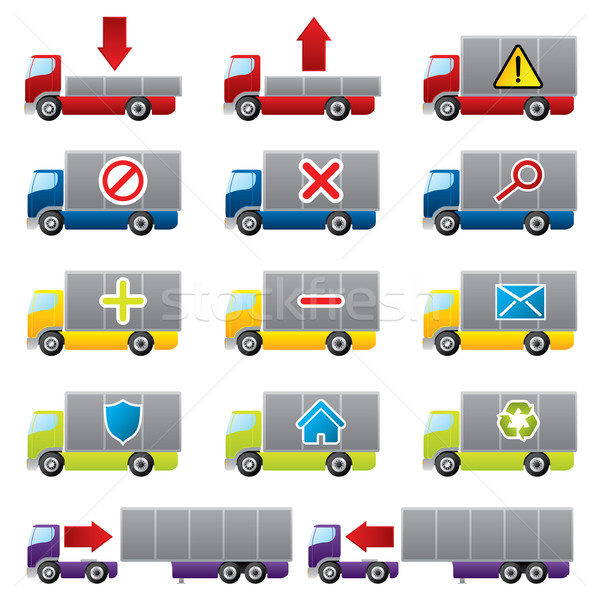 Truck icons for the web Stock photo © vipervxw