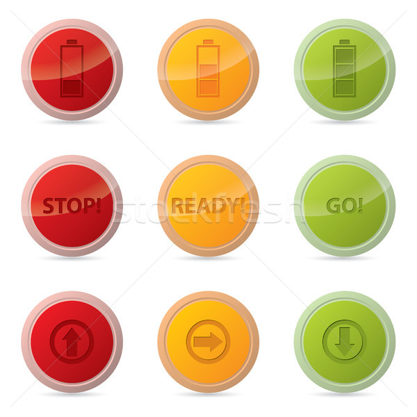 Web button set with various icons Stock photo © vipervxw