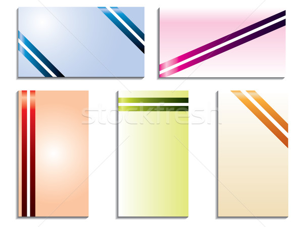 Color stripped business cards  Stock photo © vipervxw