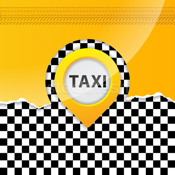 Taxi background with ripped paper Stock photo © vipervxw