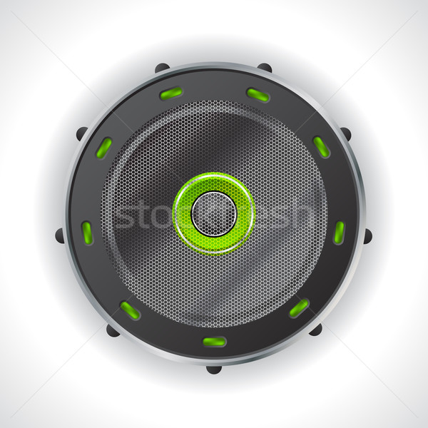 Cool speaker design with green leds Stock photo © vipervxw