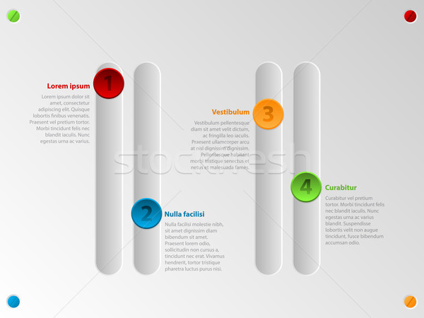 Cool color slider infographic with options Stock photo © vipervxw