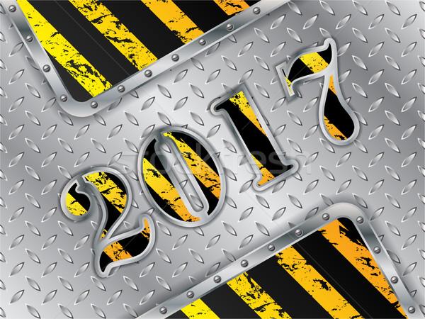 Industrial 2017 background with metallic elements Stock photo © vipervxw