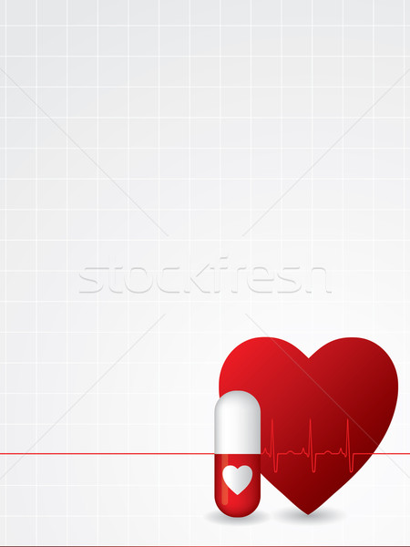 Ekg poster design Stock photo © vipervxw