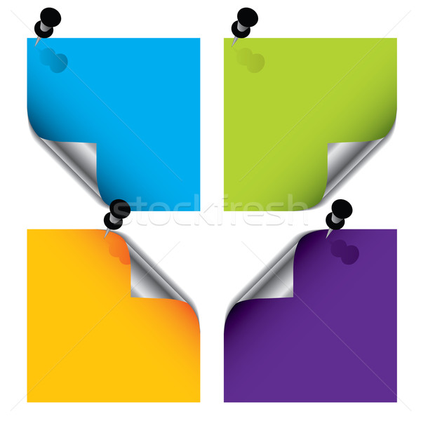 Stock photo: Colorful post its