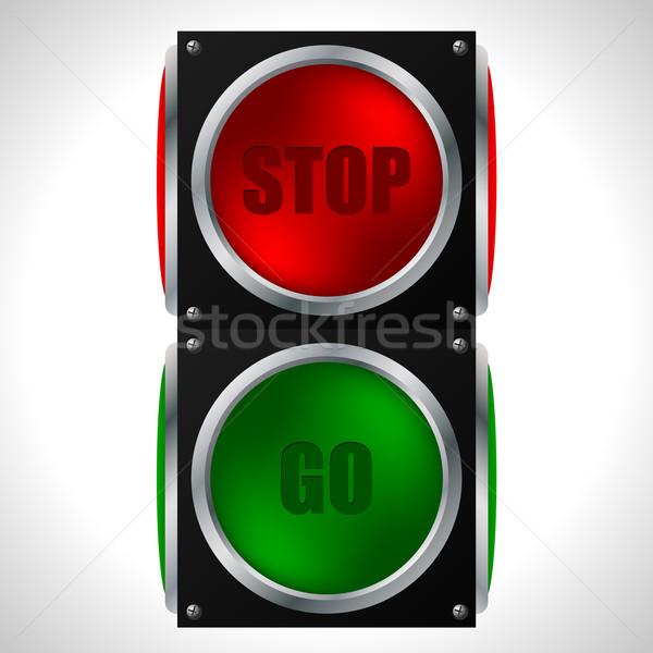 Stop and go traffic light Stock photo © vipervxw