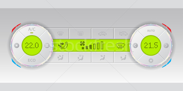 Digital air condition white dashboard design Stock photo © vipervxw