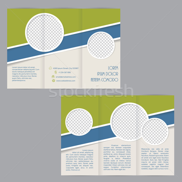 брошюра шаблон дизайна Элементы изображение аннотация Сток-фото © vipervxw