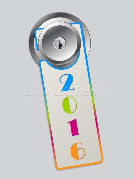 Arco-íris cor porta cabide 2016 texto Foto stock © vipervxw
